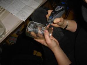 Gläser beschriften mit dem Dremel