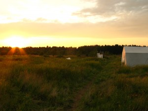 074 Sonnenuntergang Camp